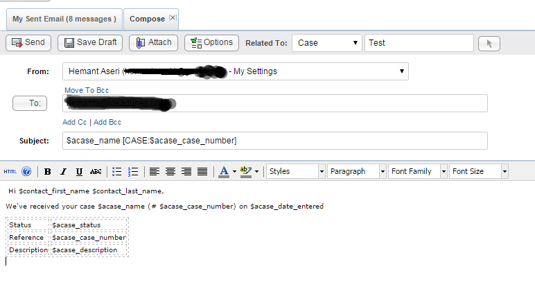 how to write test cases for email field