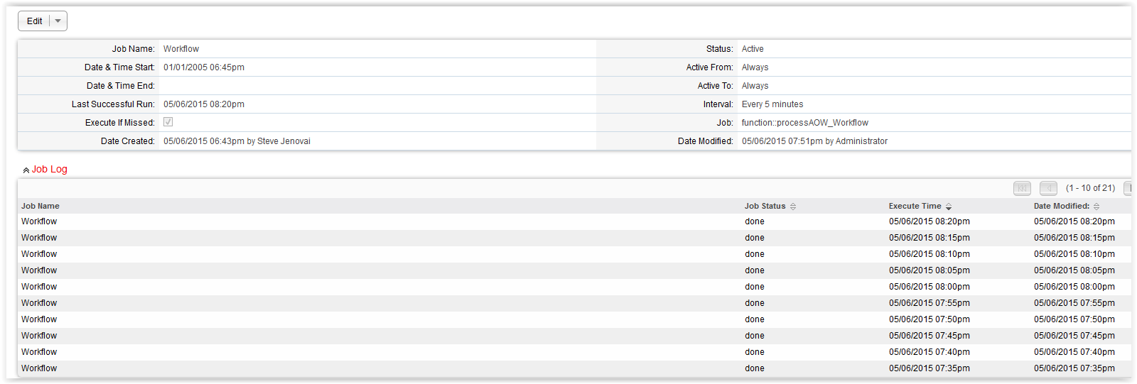 SuiteCRM Forums: Trying to create a cron job for Workflow on