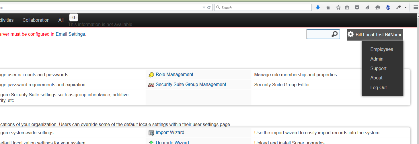 SuiteCRM Forums: from 7 1 4 to 7 2beta- top menu is white? (1/1)