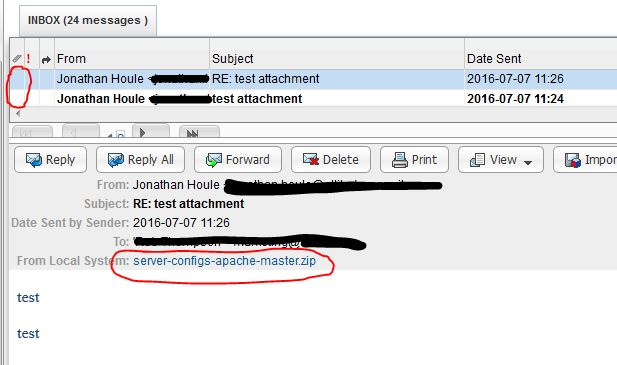 SuiteCRM Forums: Email attachments are not shown (1/1)