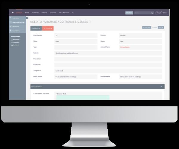 SuiteCRM's list of features - SuiteCRM